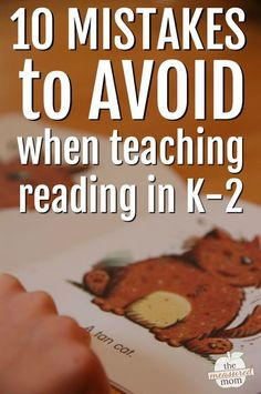Are you avoiding these common mistakes when teaching reading in kindergarten, first, or second grade?