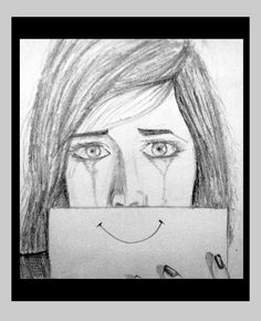 Even fake smiles cannot hide your tears ........ - Sketching by Rakesh Kanwar in my artworks at touchtalent 25903