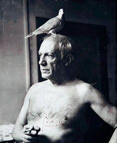 Curiosa foto de Pablo Picasso