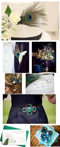Peacock Inspiration Board by Meaghan Bryce, via Flickr