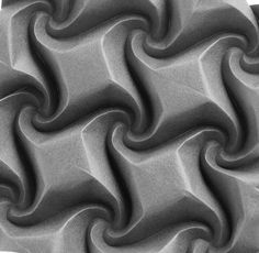 Square twists? Curved #origami #corrugation single sheet of tant #paper.