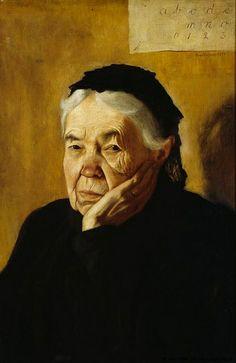 Simberg, Hugo (1873-1917) - 1898 The Artist's Aunt (Ateneum Art Museum, Helsinki, Finland) | Flickr - Photo Sharing!