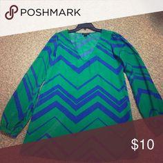 Medium metaphor shirt Green and blue shirt. Tops Blouses