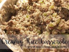 Creamy Rice Casserole | Momfessionals | Bloglovin'