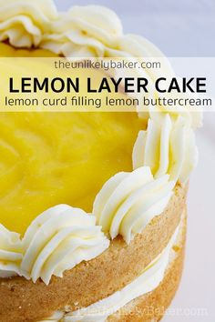 Lemon cake with lemon curd filling - smooth and silky lemon curd reside between . - Zona Cooks - Recipes for Two Lemon cake with lemon curd filling - smooth and silky lemon curd reside between . Lemon Desserts, Lemon Recipes, Köstliche Desserts, Cake Recipes, Dessert Recipes, Lemon Curd Cake, Lemon Curd Filling, Lemon Curd Recipe, Lemon Curd Dessert