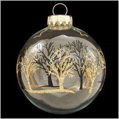 40 Pretty Christmas Clear Glass Ornament Ideas