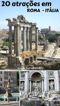 20 atrações imperdíveis em Roma, capital da Itália + Vaticano #Roma #Rome #Italia #italy #vatican #vaticano #cittadelvaticano #mustseeinRome #temqueir