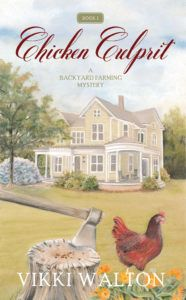 CHICKEN CULPRIT  by Vikki Walton  ~~~~~~~~~~~~~  GENRE: cozy mystery  ~~~~~~~~~~~~~  BLURB:  Moving to Colorado seemed like a great way to start over. In Carolan Springs, Anne plans to spend her days living the simpler life.   But when her neighbor is found dead in his compost pile, trouble comes knocking on Anne's door.   All the evidence points to Anne's other neighbor, Kandi Jenkins.   #CozyMystery #Excerpt #giveaway