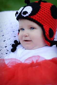 I'm a Little lady bug !!! Such a cute hat
