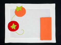 PLACEMAT TOMATO - Amber Red