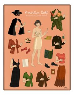 Amelie Paper Doll. Love that movie!