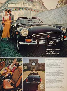 pictures of british leyland car ads | 1972 Ad MGB British Leyland Convertible Sports Car Couple Glass ...