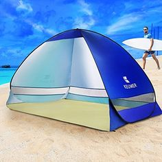 EZColoris Automatic Pop Up Beach Tent Portable Outdoor Quick Cabana Beach Sun Shelter UV Protection