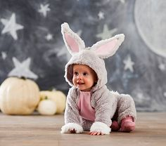 I have so many things I need before even thinking about a Halloween costume but I can't even stand it-Baby Bunny Costume #pbkids
