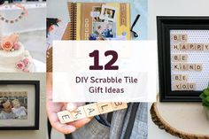 DIY scrabble tile gift ideas