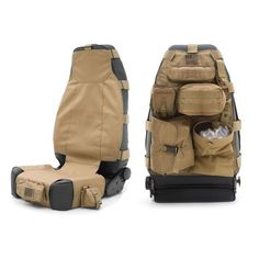 Smittybilt G.E.A.R. Front Seat Cover, Coyote Tan - Sold Individually