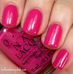 O.P.I Pink Flamenco. Good spring/summer color for toes!