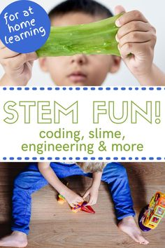 Looking for the best way to keep your kids engaged and learning about all of the STEM subjects? This mega bundle can be downloaded and printed off right at home. With activities, games and more your kids can learn about engineering, the science behind making slime and so much more! A great way to supplement learning at home, everyone will love the fun activities in this STEM pack. #STEMlearning #LearnAtHome #ElementarySTEM Science Activities For Kids, Steam Activities, Stem Science, Science Experiments Kids, Sensory Activities, Sensory Play, Educational Activities, Learning Activities, Stem Learning