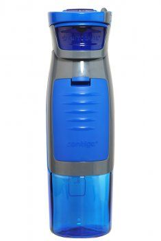 Water bottle that holds keys, ID, etc. Perfect for the gym!