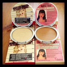 The Balm's Mary-Lou Manizer (highlighter) and Betty-Lou Manizer (bronzer) AMAZING. Now all I need is Cindy-Lou Manizer too complete my collection! Kiss Makeup, Beauty Makeup, Hair Makeup, Makeup Dupes, Makeup Cosmetics, Technique Makeup Brushes, Best Makeup Products, Beauty Products, Makeup Stand