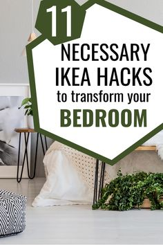 These bedroom decorating ideas on a small budget are GENIUS! Transform the look of your room with IKEA hacks for bedroom. Cheap home decor has never been easier! #ikeahacks Bedroom Hacks, Ikea Bedroom, Small Room Bedroom, Cozy Bedroom, Bedroom Decor, Cheap Home Decor, Diy Home Decor, Closet Hacks, Minimalist Bedroom