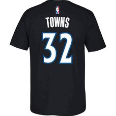 Youth Minnesota Timberwolves Karl-Anthony Towns adidas Black Player T-Shirt