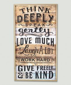 Loving this 'Love Much' Wood Wall Sign on #zulily! #zulilyfinds