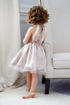 This could be a cute pattern to use if we wanted to sew the flower girl dresses up ourselves.   Haven Dress & Romper - Violette Field Threads  - 1