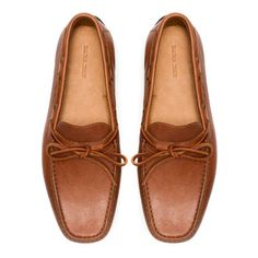 LEATHER MOCCASIN WITH BOW - Moccasins - Shoes - Man - ZARA Thailand