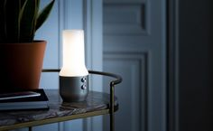 Light up your outdoor party with the Lexon Terrace Bluetooth Speaker. This stylish device combines a speaker and lamp in one, making it ideal for outdoor activities like camping. Bluetooth Gadgets, Cool Bluetooth Speakers, Retro Waves, Light Up, Terrace, Wall Lights, Led, Yanko Design, Organizing Ideas