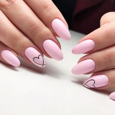Make an original manicure for Valentine's Day - My Nails Mint Nails, Gel Nails, Nail Polish, Stiletto Nails, Cute Acrylic Nails, Cute Nails, Pretty Nails, Heart Nail Designs, Cute Nail Designs