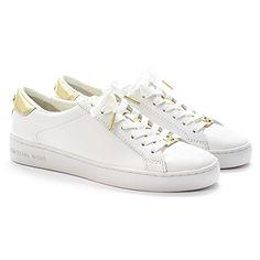 Michael Kors Sneaker Irving Lace Up Optic White Gold Pelle Vacchetta/Vernice - http://on-line-kaufen.de/michael-kors/michael-kors-sneaker-irving-lace-up-optic-white