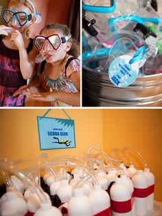 CAUTION: Sharks! & Scuba Birthday Party