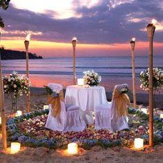 boda en la playa #velas#antorcha#parafina#tul