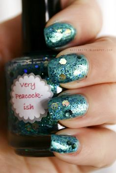 All That Glitters Very Peacock-ish  #manicure #nailpolish #indie #beauty