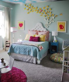 Beautiful Girl's Room with butterflies