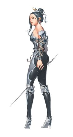 Silver sword lady character design