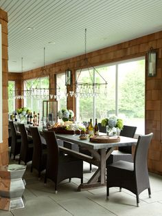 Wonderful screened porch with bluestone flooring!!  Also candlelight chandeliers!!