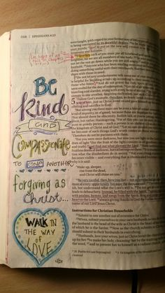 Ephesians 5 be kind and compassionate walk in the way of love