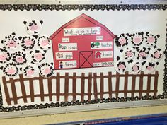 We made these cute paper plate cows to go with our farm unit.