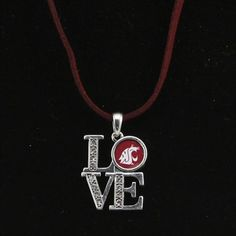 Washington State Cougars Women's Love Suede Necklace