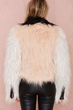 Chaser Block Party Faux Fur Moto Jacket | Shop Clothes at Nasty Gal