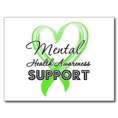 mental health awareness | Mental Health Awareness - Support Post Cards from Zazzle.com