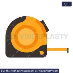 A GIF icon animation of a measuring tape