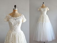 vintage 1950s Northern Star lace gown