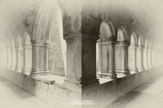 Cloister - The cloister of the Quin Friary, Co. Clare, Ireland