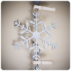 French Country Wood Snowflake Ornament Set by AlternativeUseStudio, $35.00