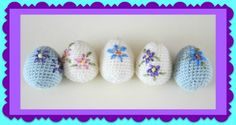 """Although chocolate eggs are definitely the best at Easter, these crocheted beauties do not fall far behind! You can never have too many decorative Easter eggs laying around, as eggs are the staple of that particularly holiday! This is a pretty quick, easy, and fun project to complete, even the """"decorating"""" part, and you still..."""