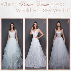 Which #LOVEbyPninaTornai dress would you wear to walk down the aisle? Let me know and tag a friend so she can choose!