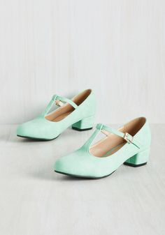 On the Edge of Your Sweet Heel in Mint, #ModCloth